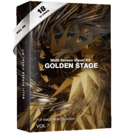 golden-stage vj loops