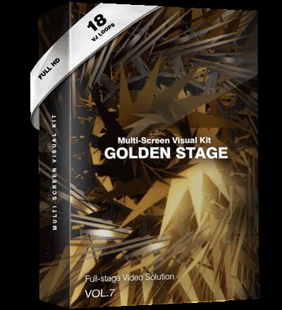 golden-stage vj loops