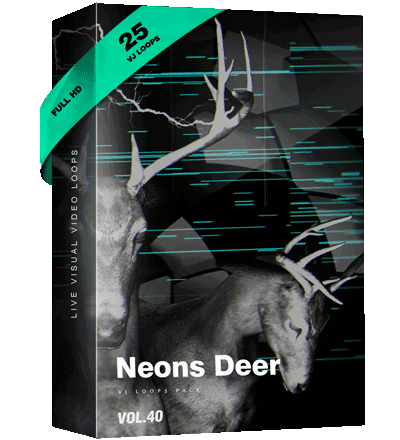 Neons-deers Vj Loops Videos