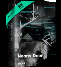 Neon vj loop deer