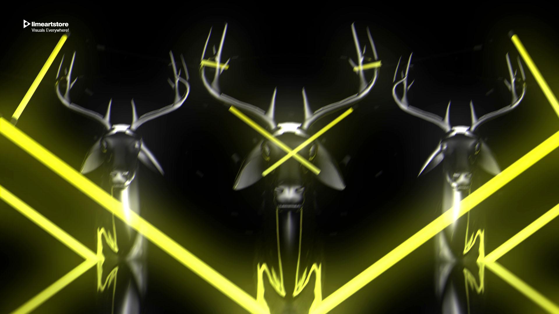 deer Neon vj loop fullhd