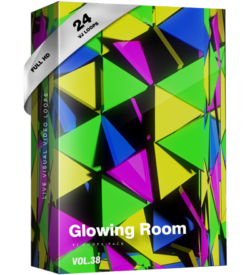 Glowing Room vj loops video footage