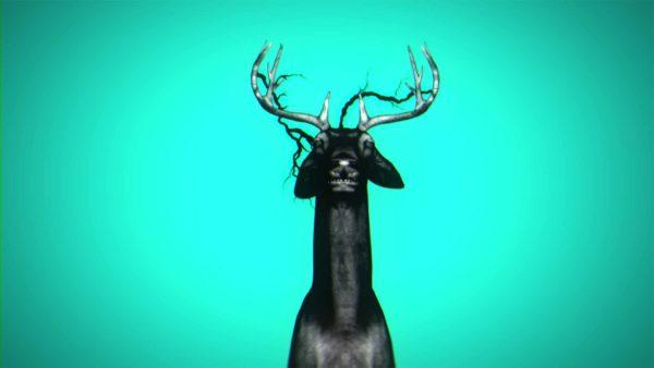 neon deer vj loop