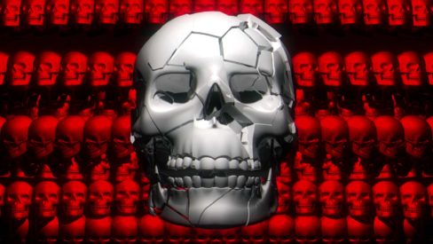 Halloween_Skull_Bones_3D_Animation_Video_Footage_VJ_Loop