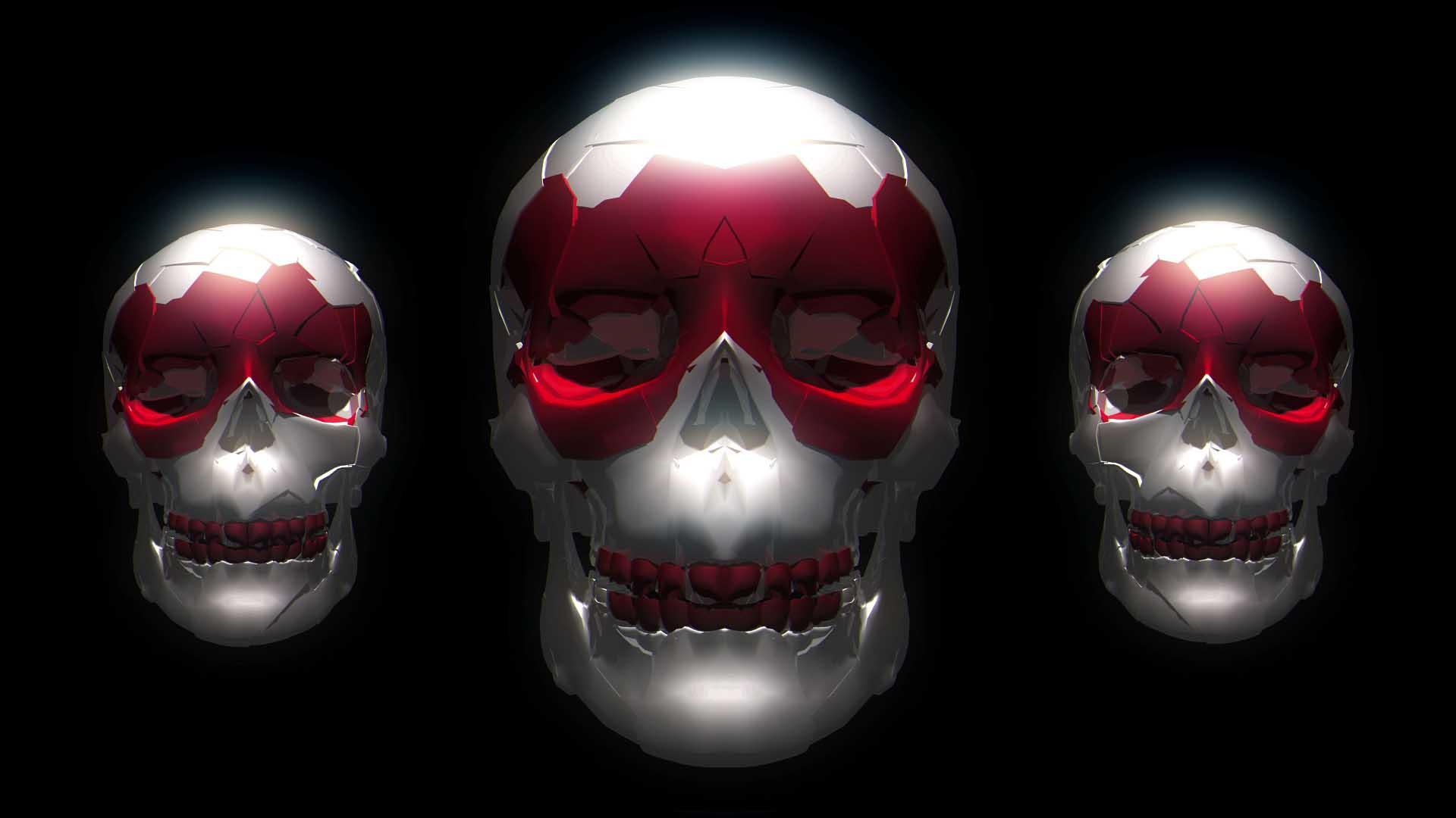 skull video footage