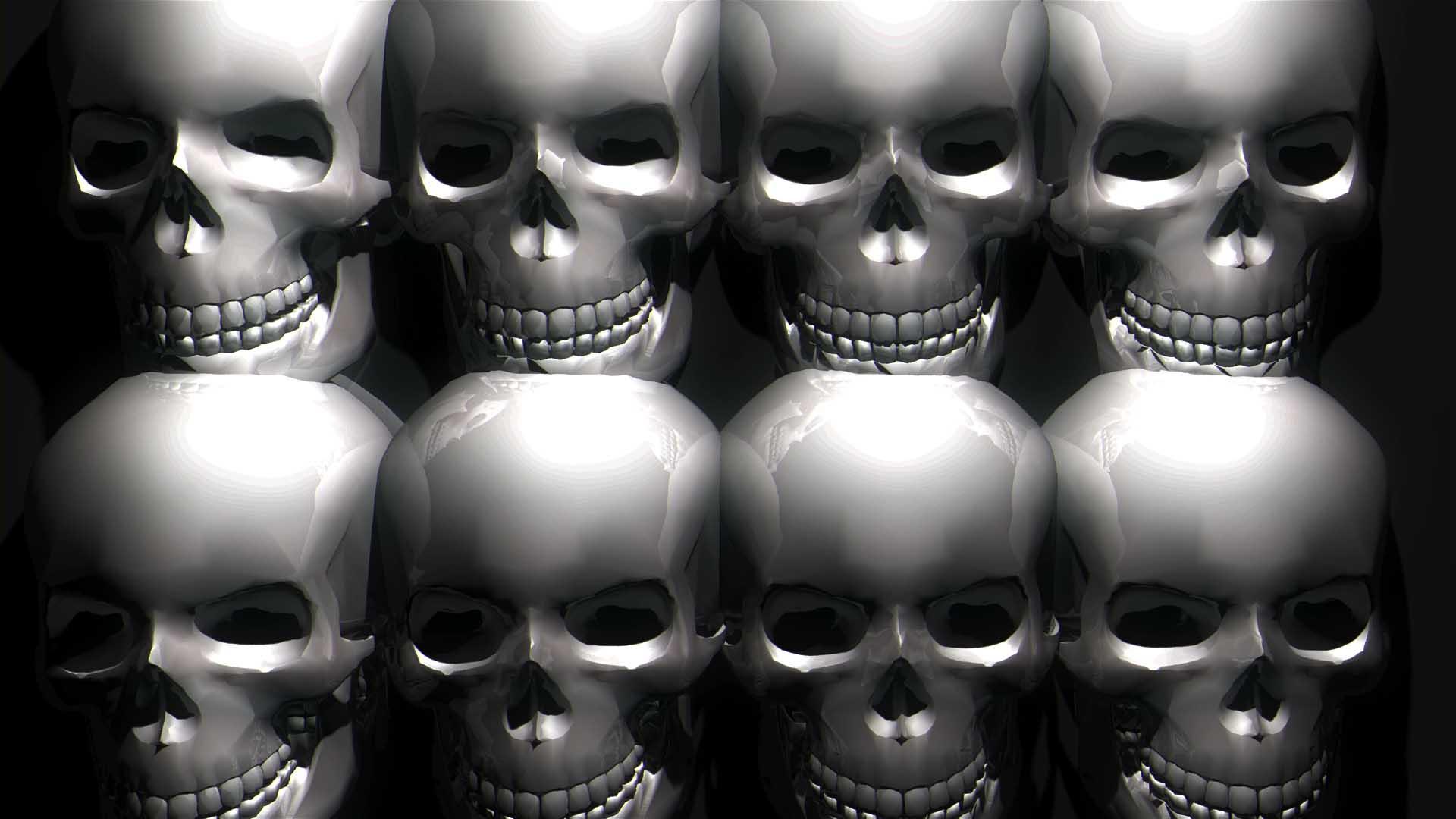 skull 3d animation