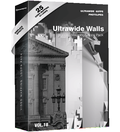 Ultrwawide Walls Video Mapping Loops