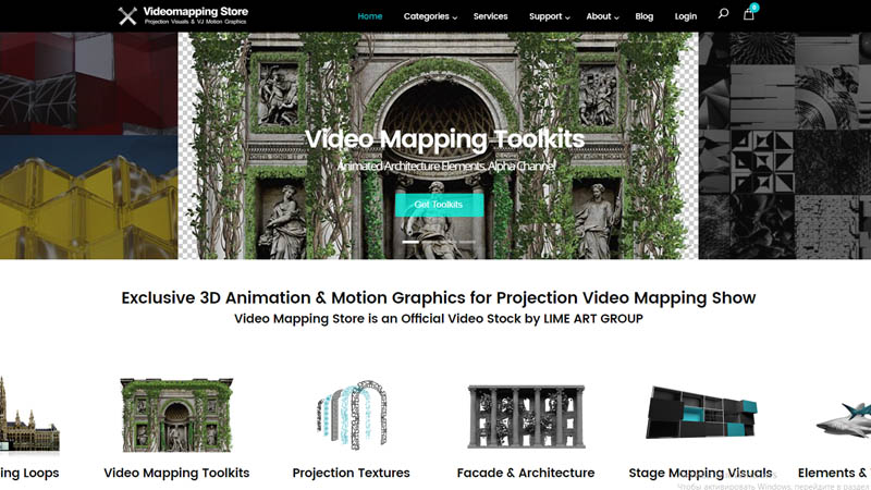 video mapping store