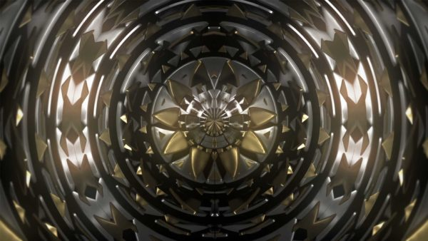 Gold CIrcle Pattern Video background