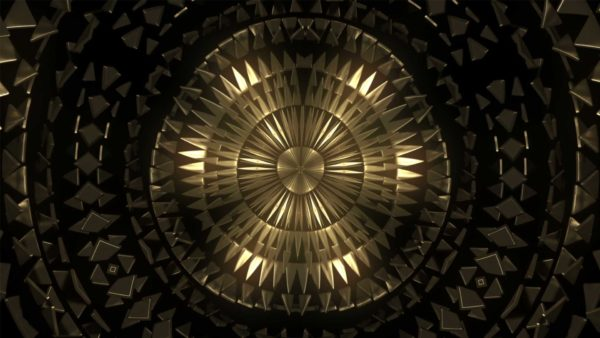 Gold CIrcle Pattern Video background