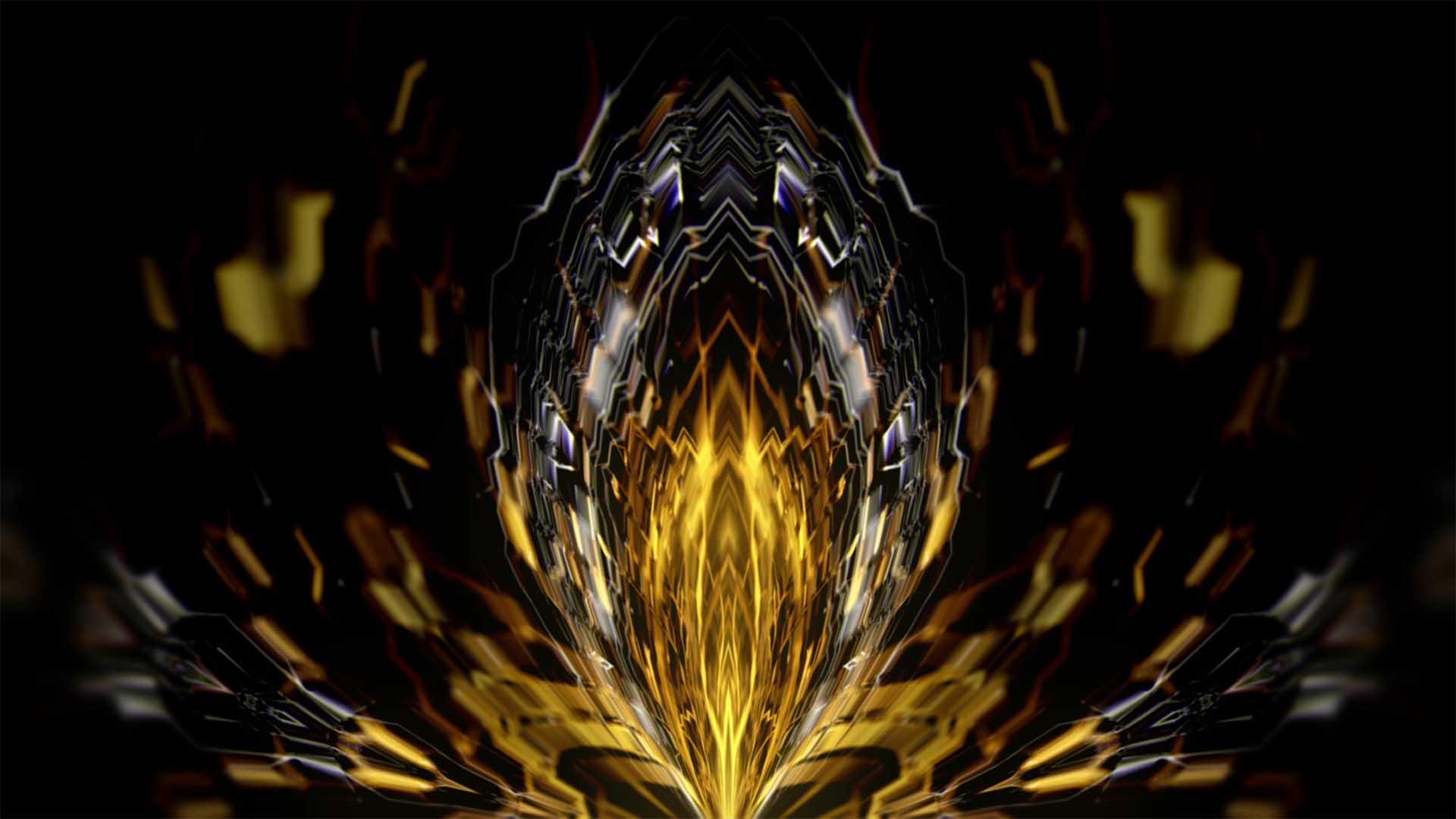 gold pattern motion background