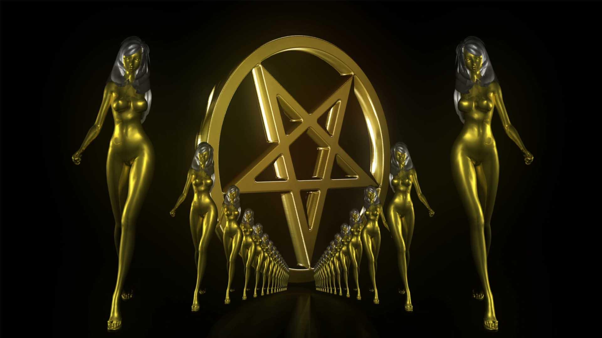 pentagram girl gold video