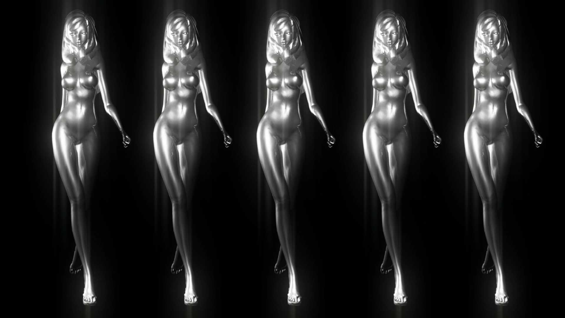 silver girl video footage vj loop
