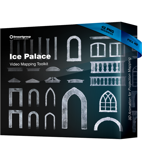 Ice Palace video mapping winter