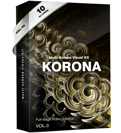 vj loop visual kit gold