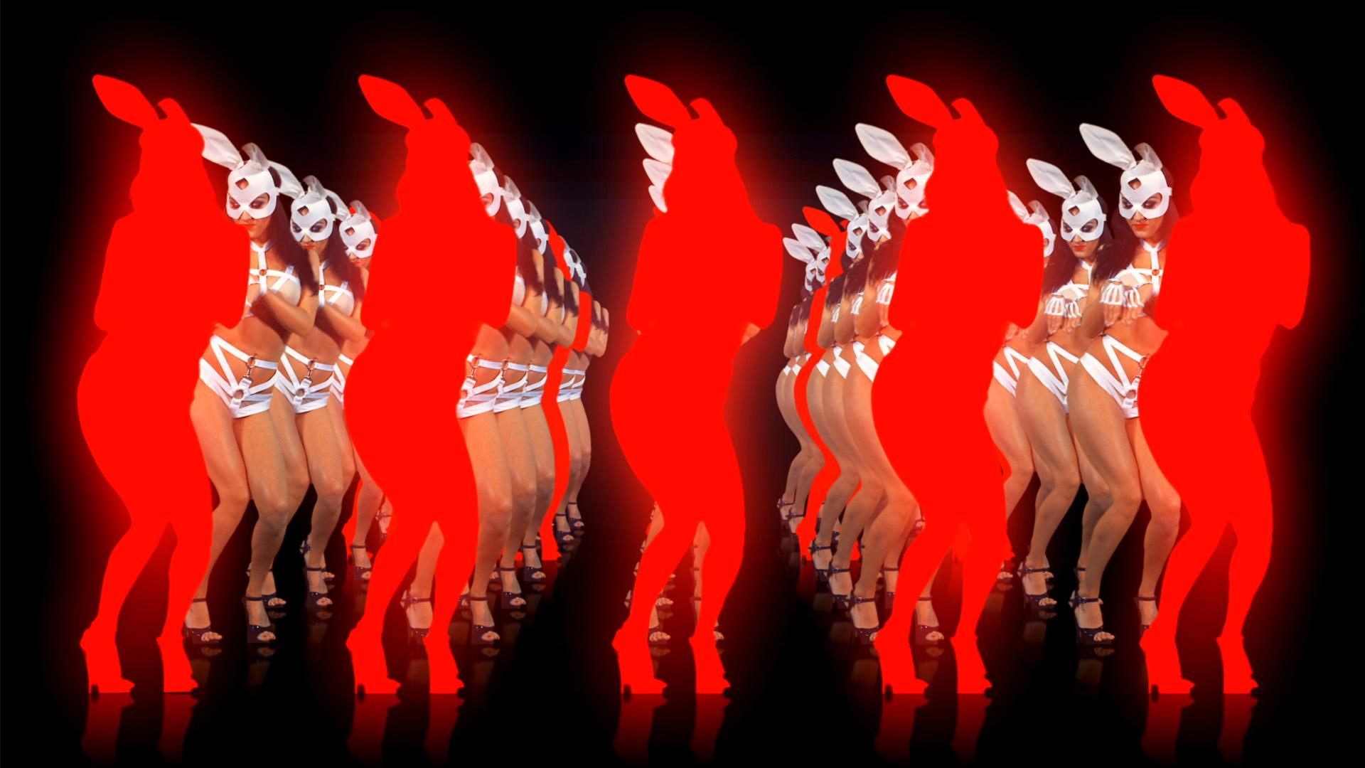 edm girl edm rabbit, dance vj loops