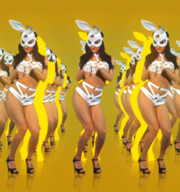 edm girl edm rabbit, dance vj loops