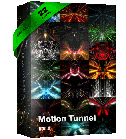 Motion-Tunnel Flight Vj Loops