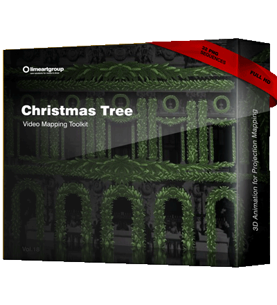 Christmas Video Mapping Tree Animation