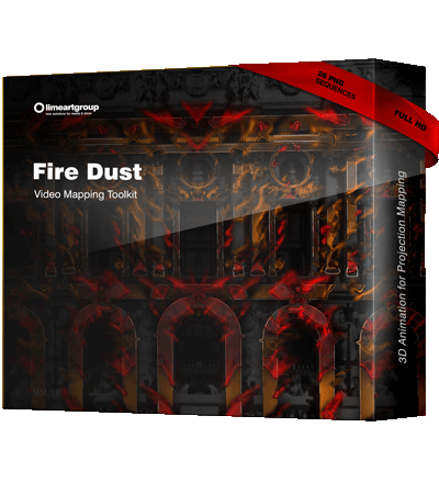 Fire Burning effect Video Mapping