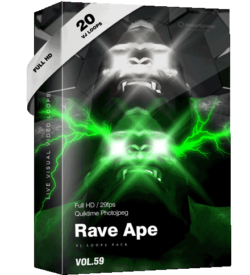 Rave Ape Monkey Vj Loops