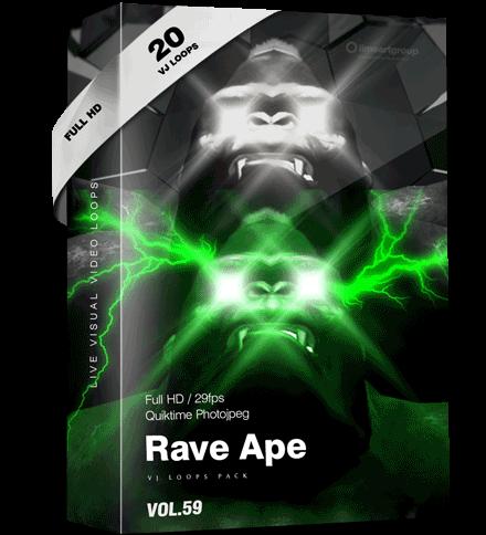 Rave Ape Monkey Vj Loops