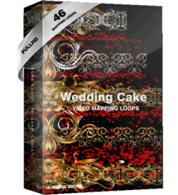 Wedding Video mapping cake