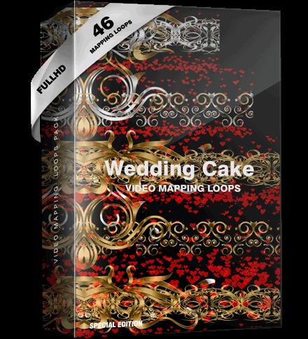 Wedding Video mapping cake
