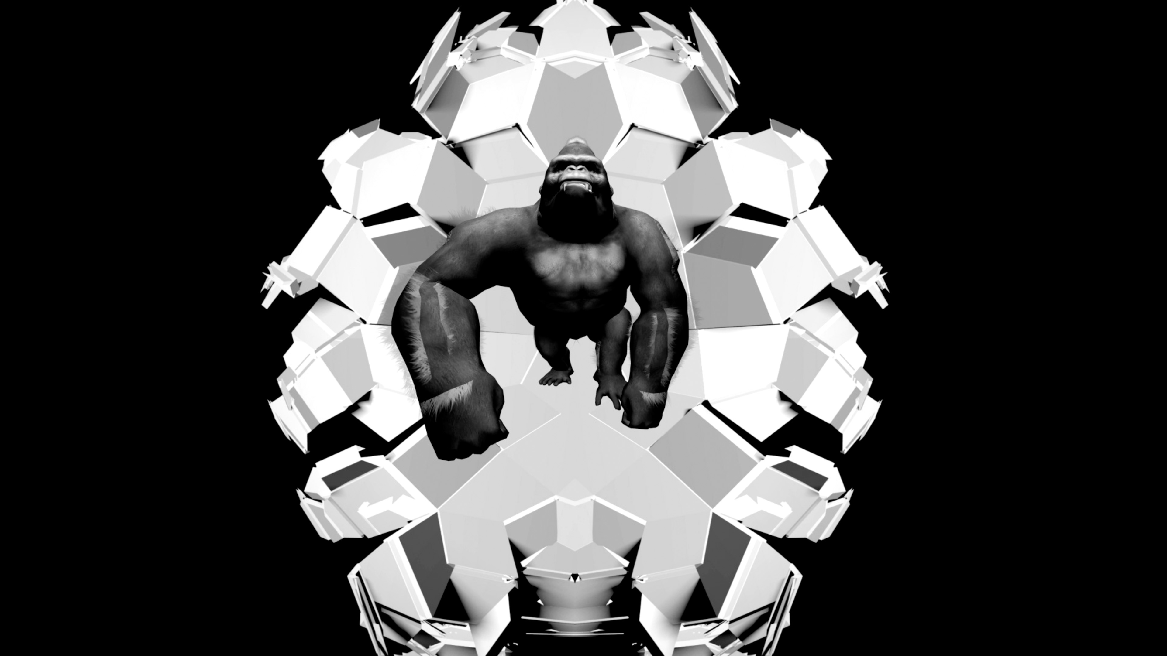 gorilla edm video animation 3d vj loop