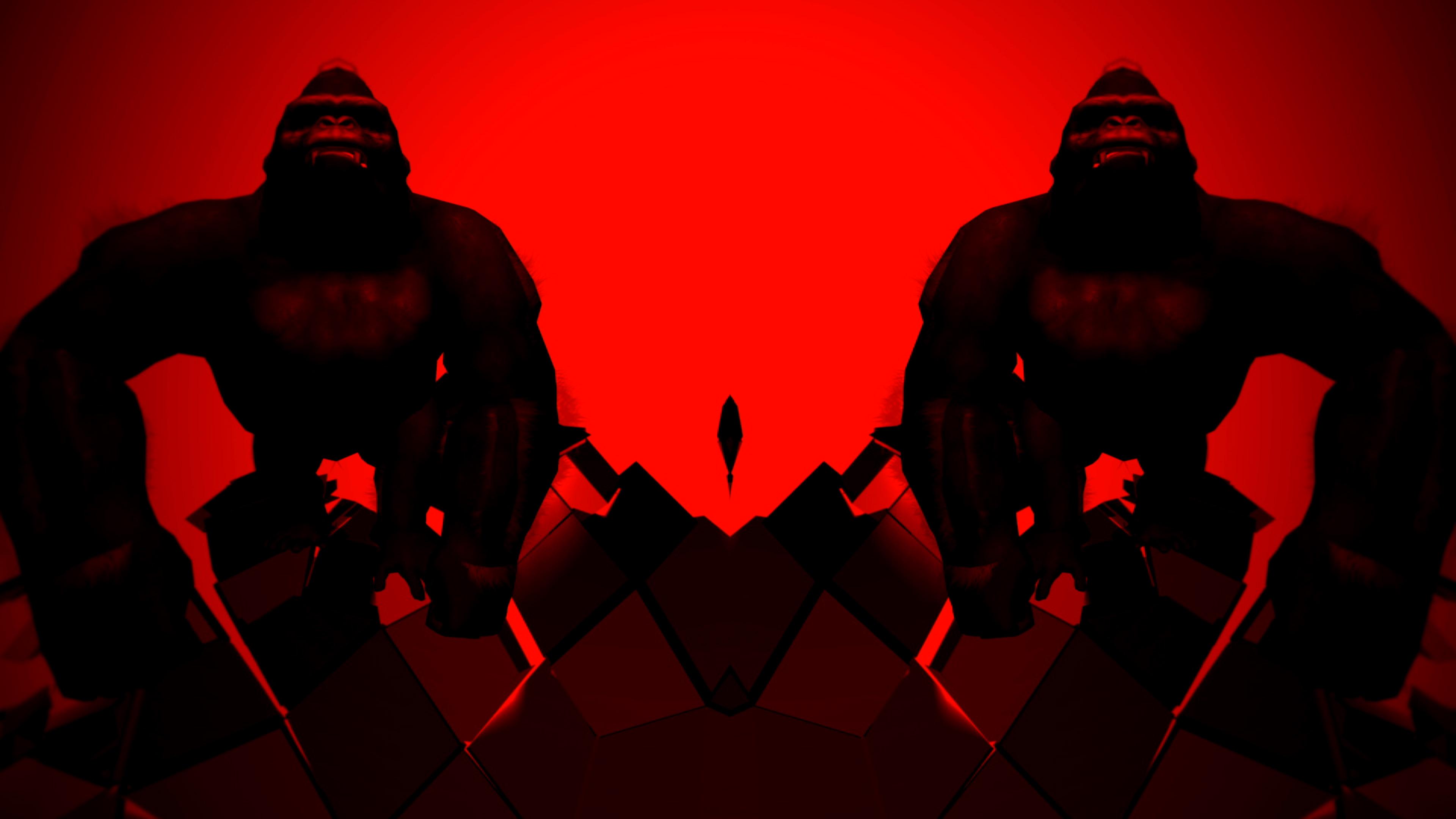 gorilla edm video animation 3d vj loop