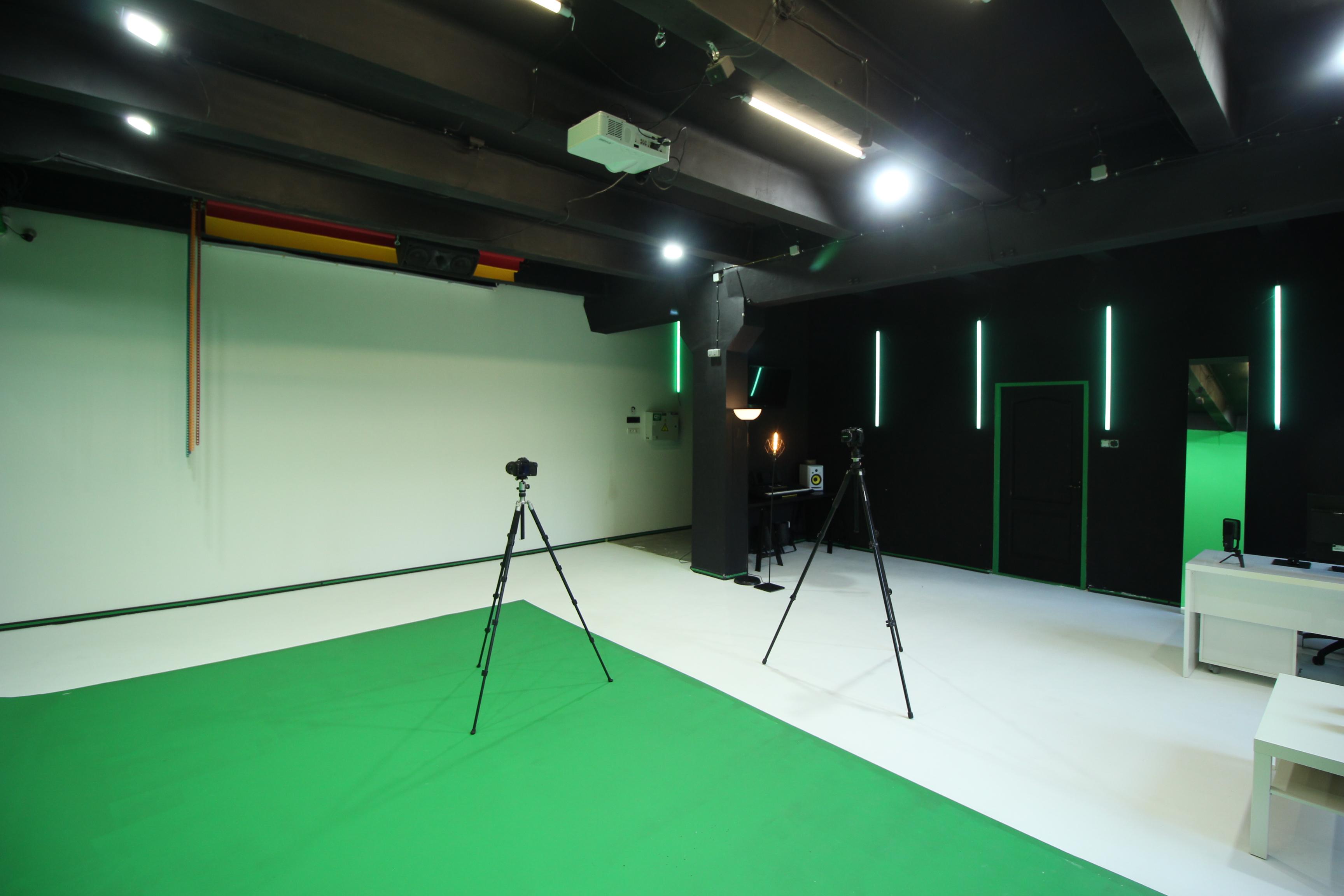 chromakey green screen studio