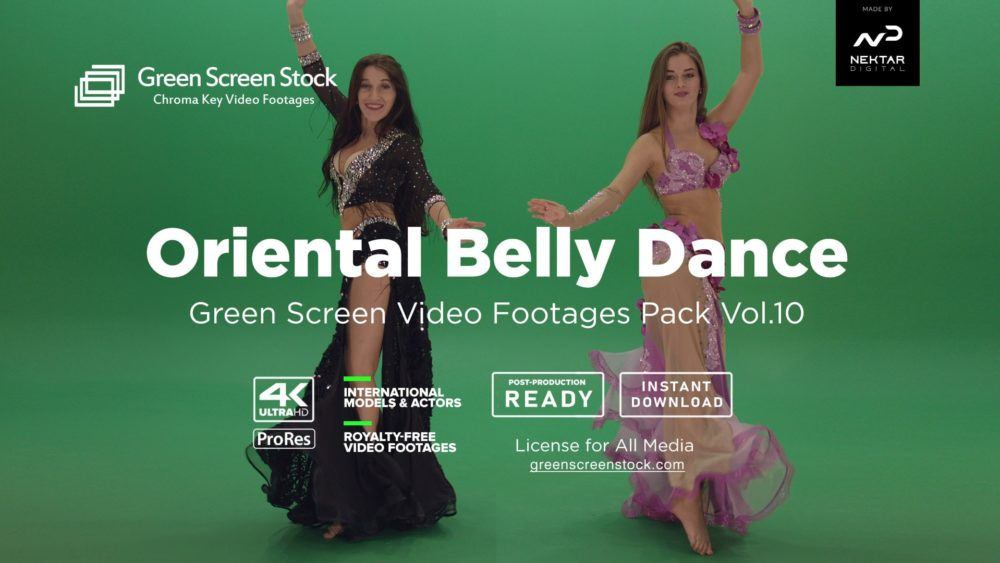 green screen oriental belly dance