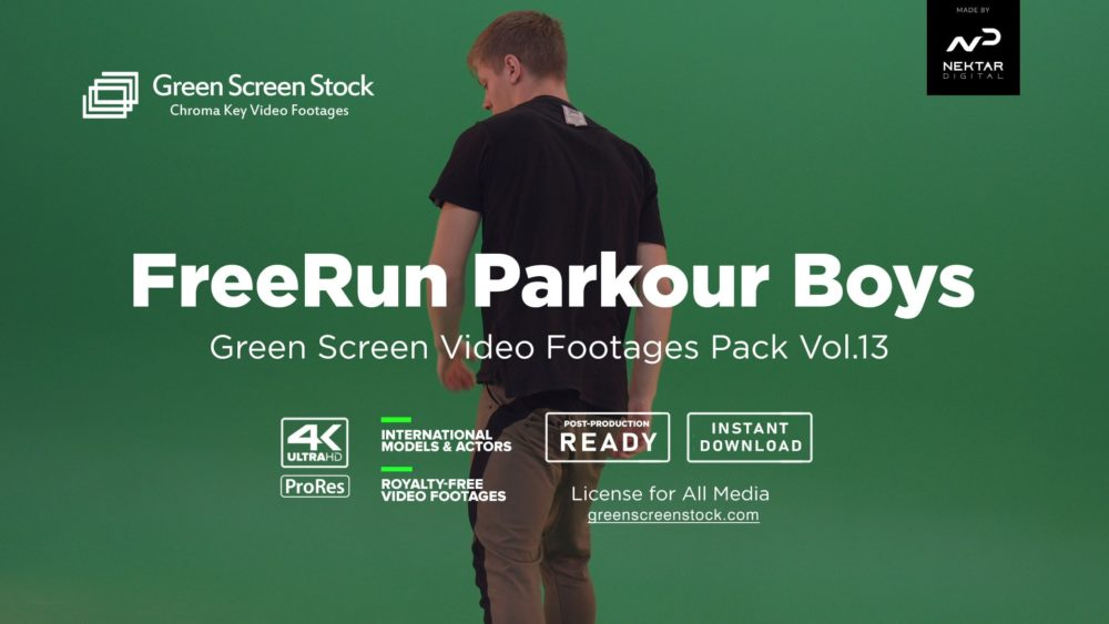 green screen parkour