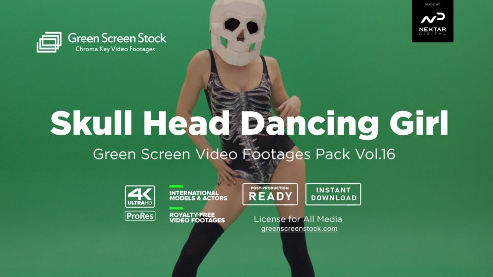green screen skull