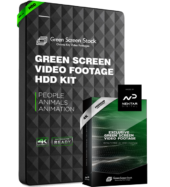 GREEN SCREEN VIDEO FOOTAGE HDD KIT