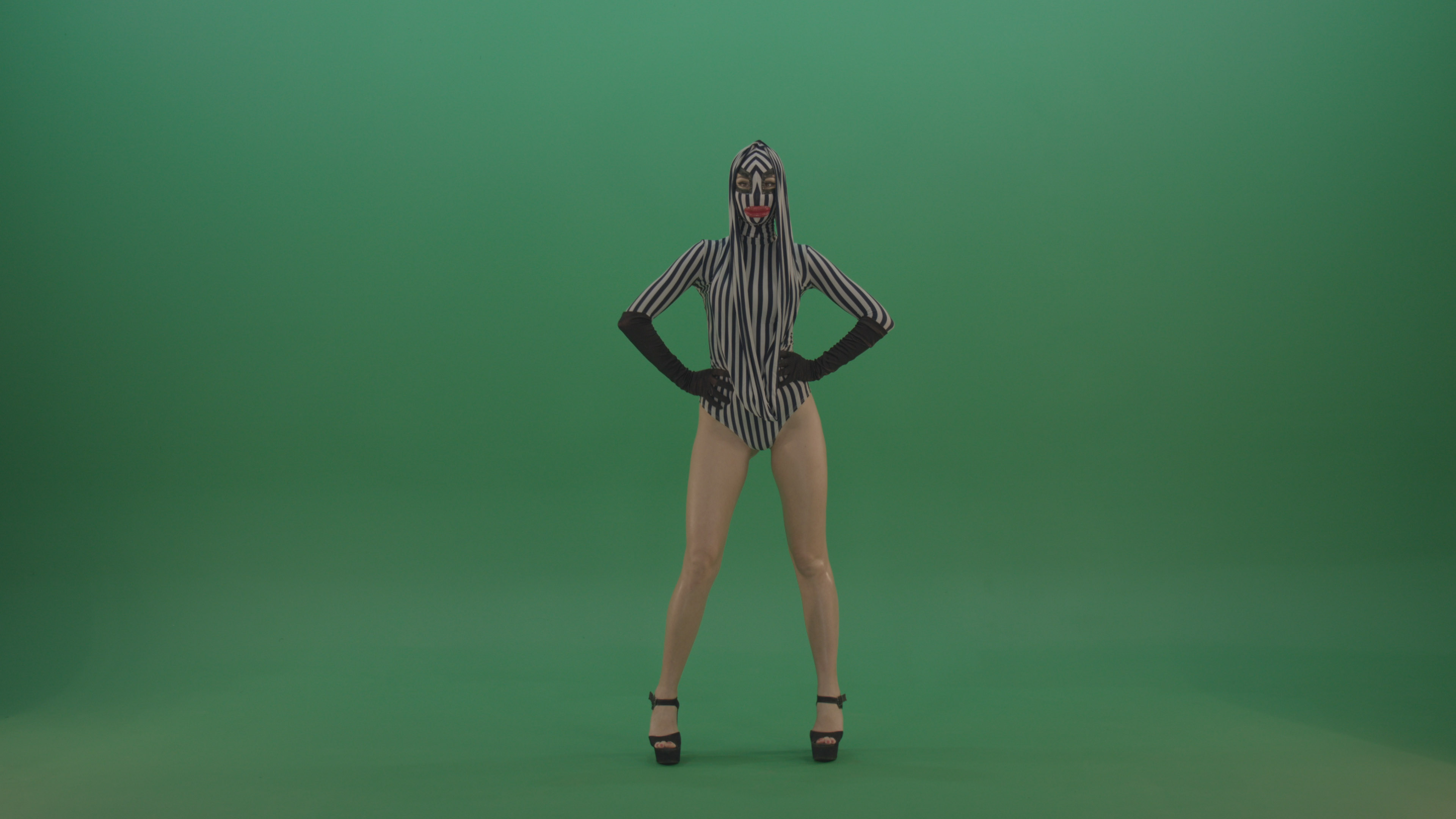 Green Screen Video FOotage Dancing Girl Go Go Dance
