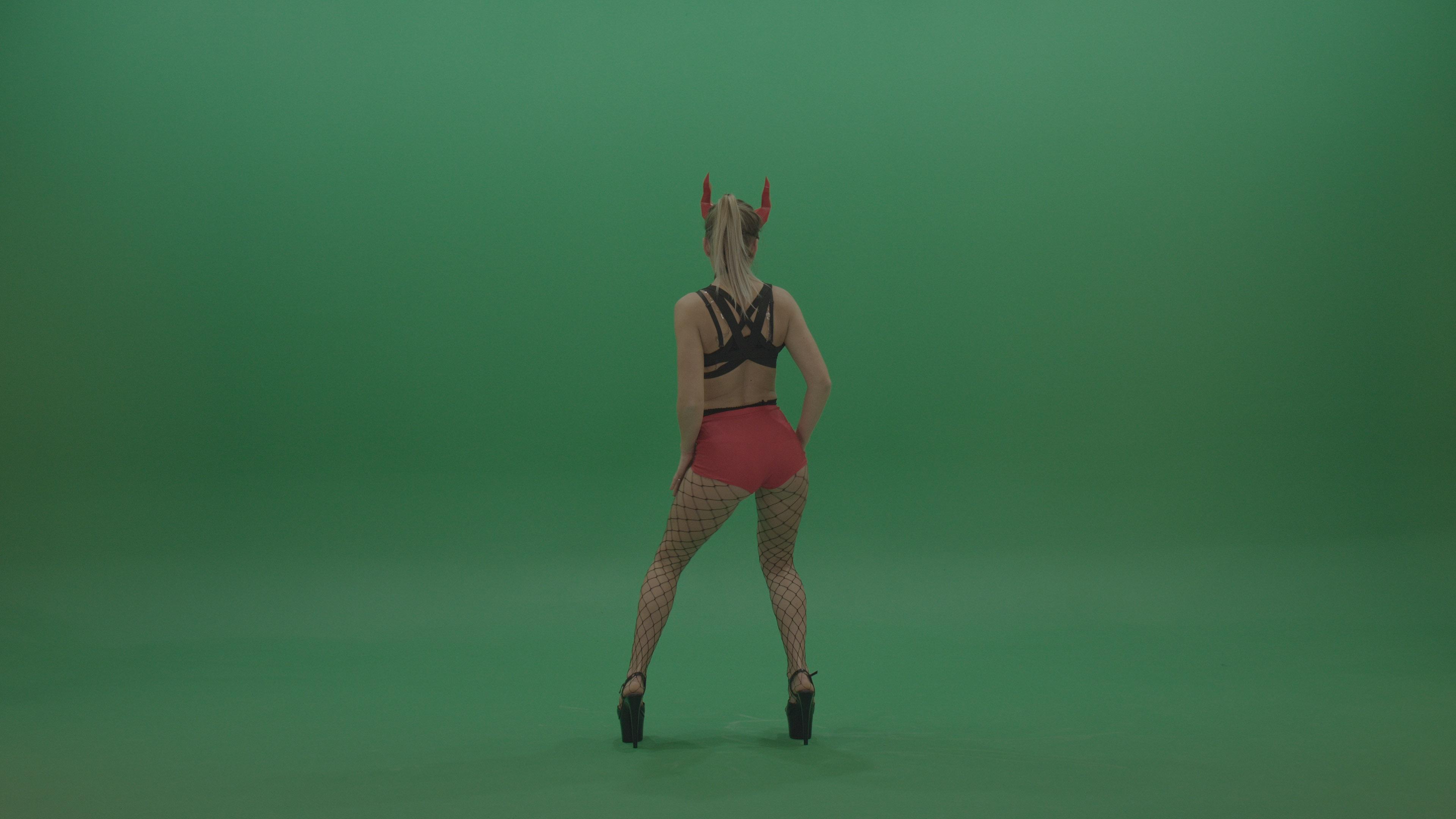Green Screen Video FOotage Dancing Girl Go Go Dance