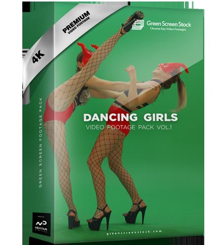 Green Screen Video Footage Pack Dancing Girls
