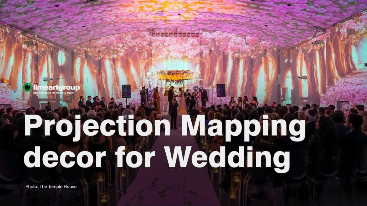 Wedding projection mapping