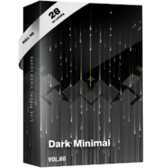 Dark Minimal vj loops video footage pack