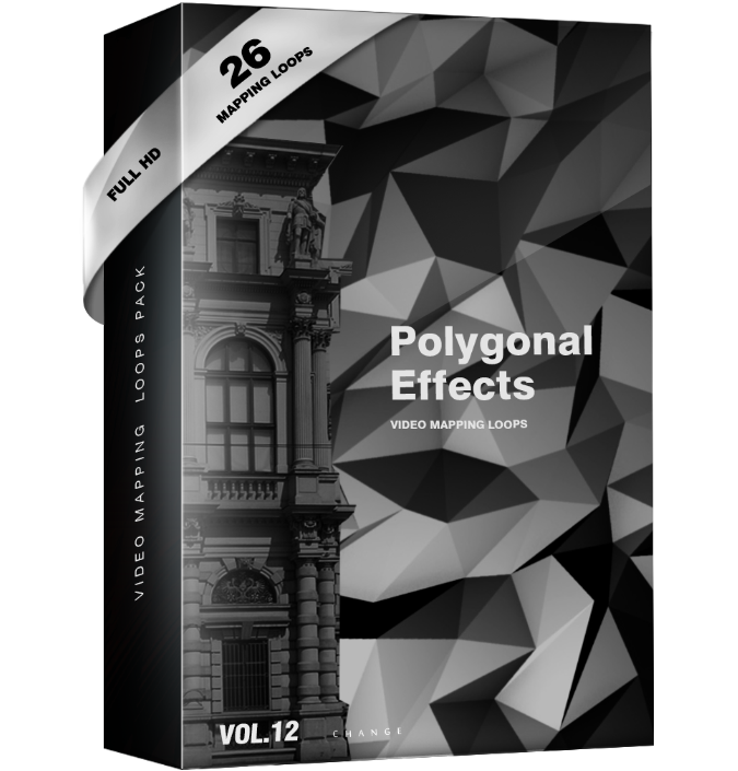 Polygonal Effect Video Mapping Loops Pack