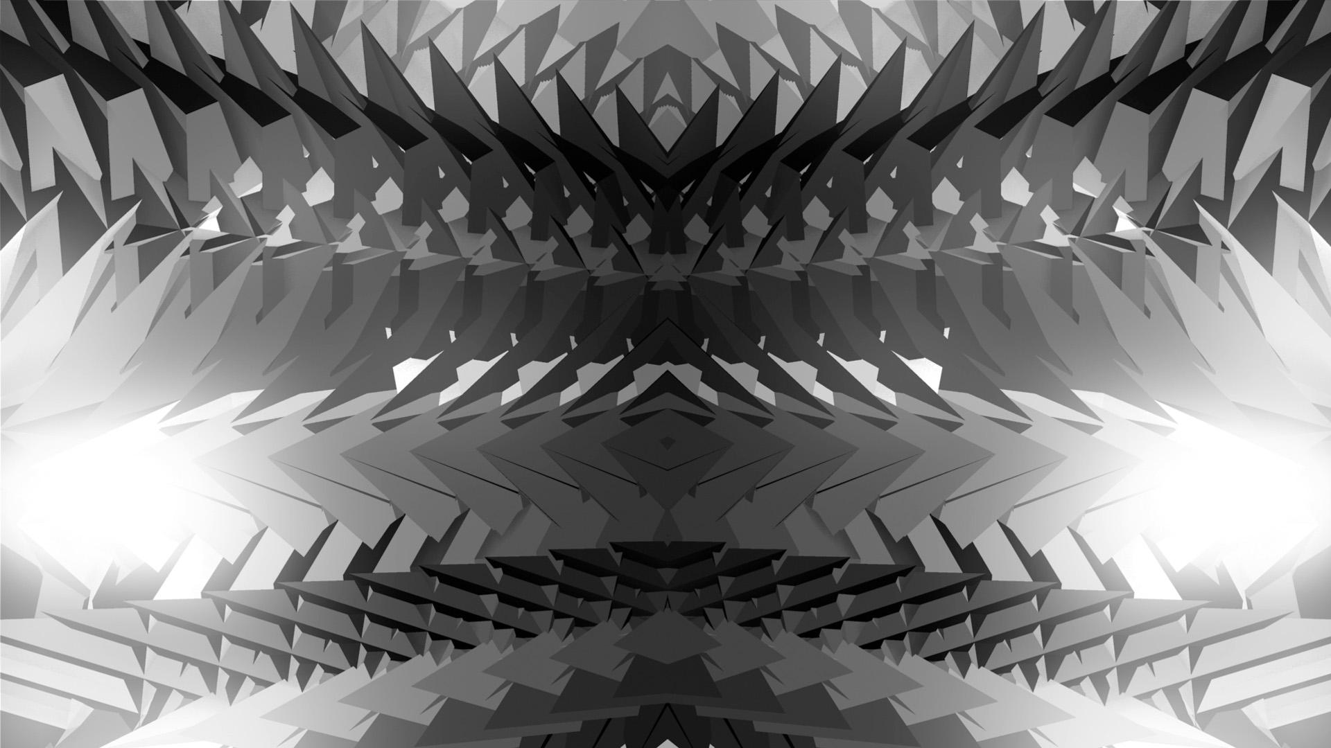 Polygonal art texture video mapping loop