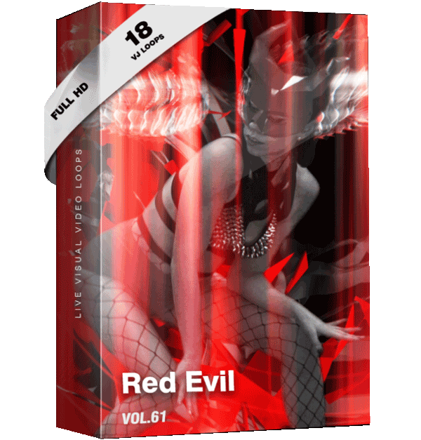 Red-Evil Vj Loops Video