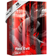 Red Evil go go girls vj loops