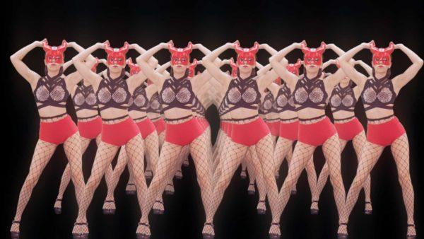 Dancing Red Girl Video Footage