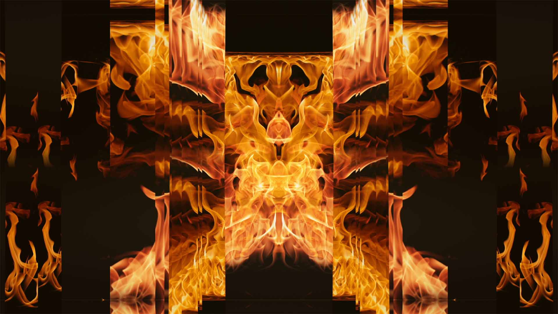 Abstract Fire Video Background