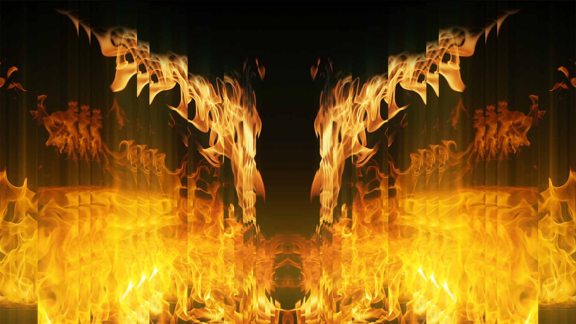 Abstract Fire Flame Video Background VJ Loop