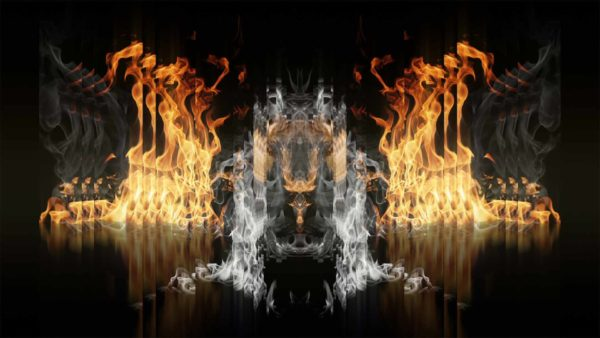 hd vj loop fire flame wallpaper