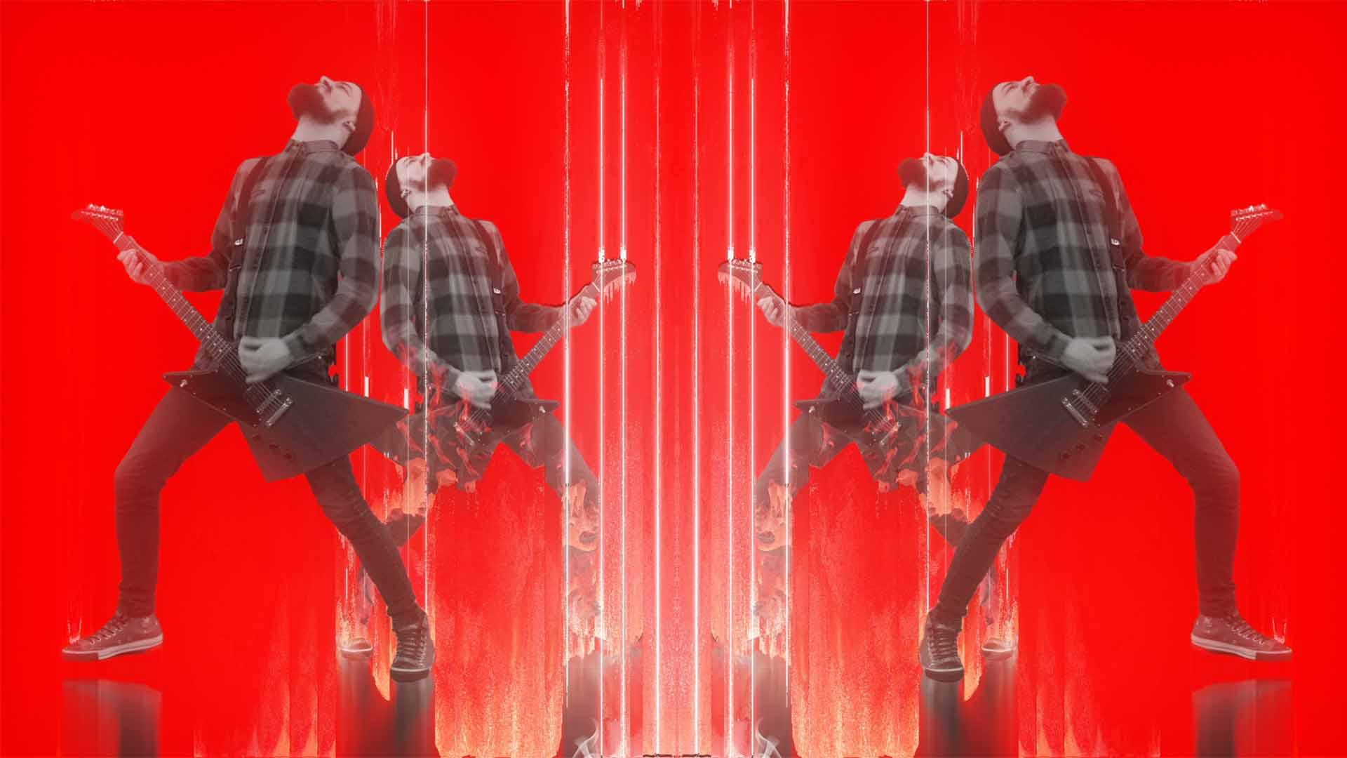 Punk Guitarist Rock VIdeo Footage