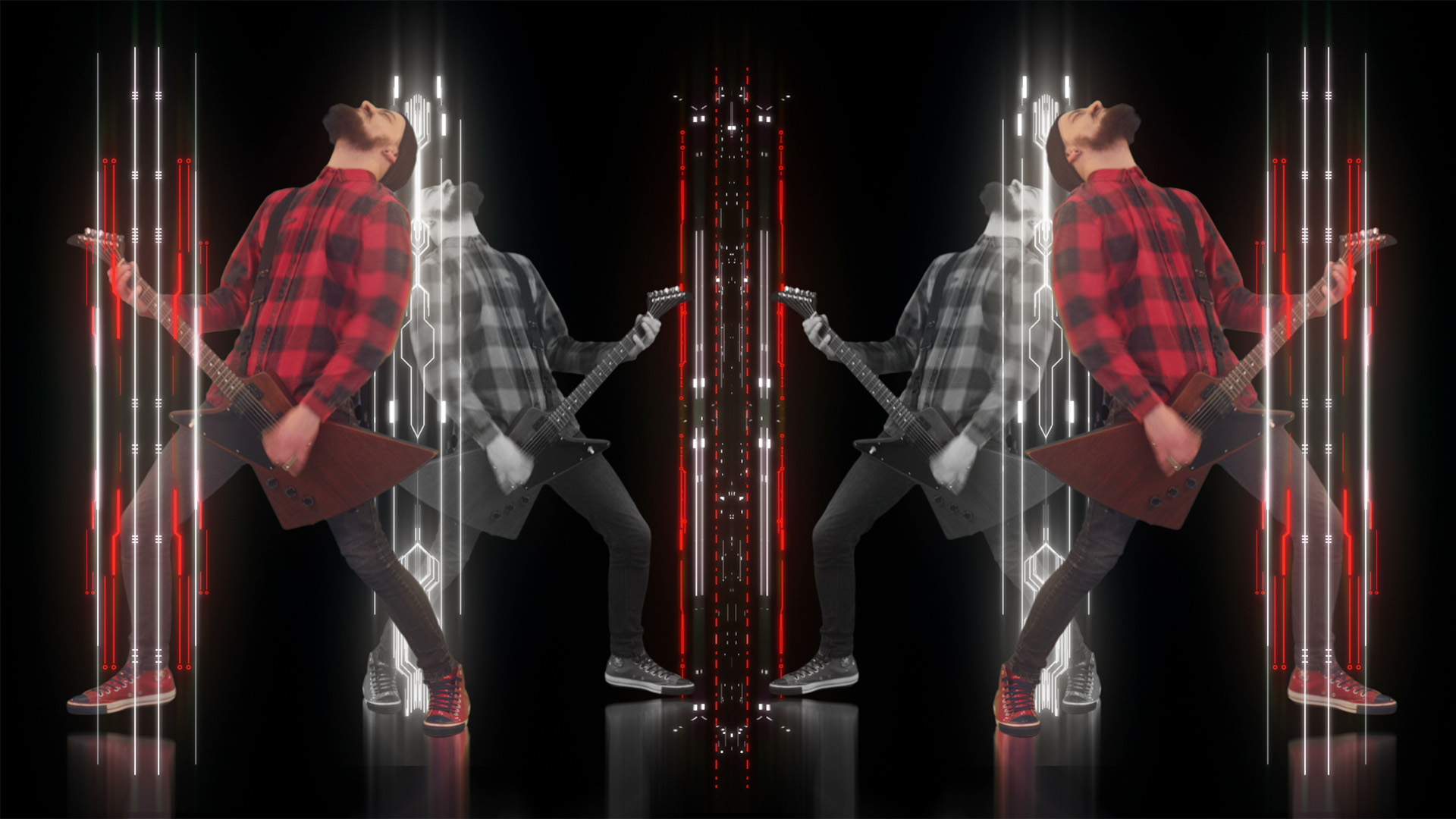 Rock man visual guitar